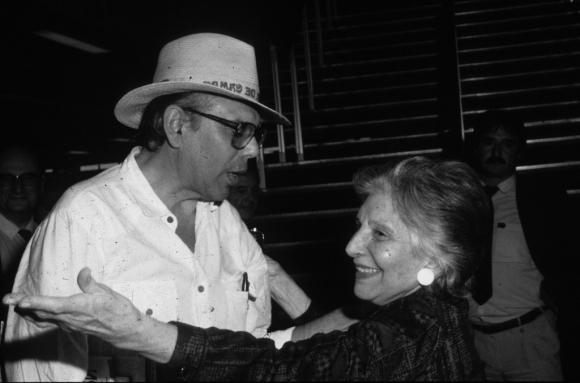 Jorge Batlle y su madre Matilde Ibañez de Batlle. Foto: Archivo EL PAÍS