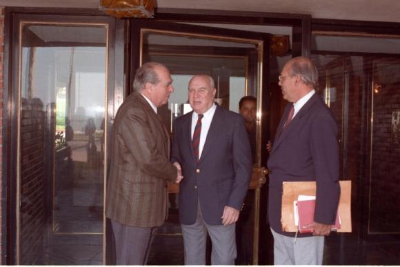 Jorge Batlle, Julio María Sanguinetti y Jorge Pacheco Areco. Foto: Archivo El País.