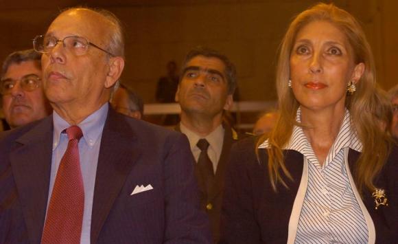 Jorge Batlle y su esposa Mercedes Menafra. Foto: Archivo El País.