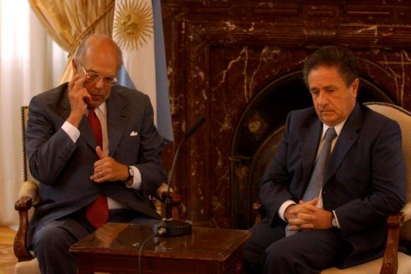 Jorge Batlle y Eduardo Duhalde, presidente argentino en 2002. Foto: Archivo El País.