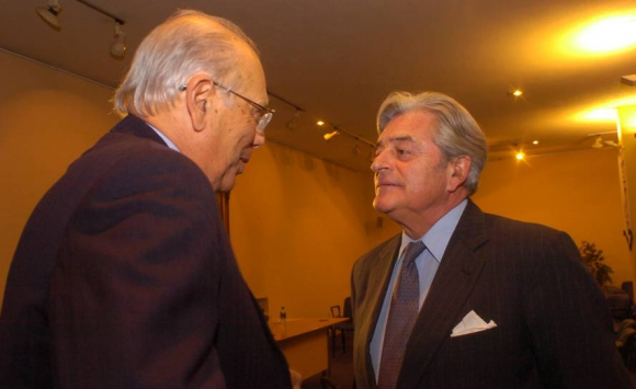 Jorge Batlle y el expresidente Luis Alberto Lacalle. Foto: Archivo El País.