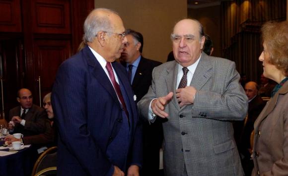 Jorge Batlle y el expresidente Julio María Sanguinetti. Foto: Archivo El País.
