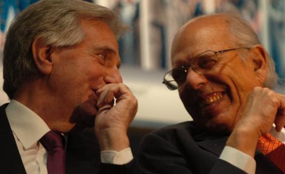 Jorge Batlle y el presidente Tabaré Vázquez. Foto: Archivo El País.