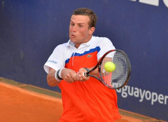 Mresca no pudo en su debut. Foto Uruguay Open