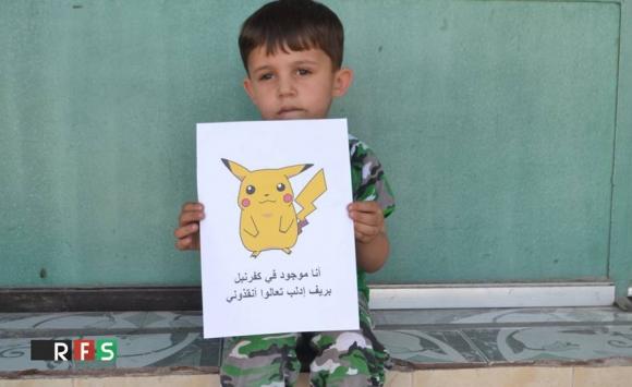 #PokemonInSyria, el hashtag que denuncia la situación de los niños en ese país. Foto: RFS.