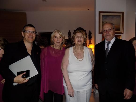 Mario Occhiuzzi, Graciela Lenguas, Angela Capdepon de Scheck, Jorge Trillo.