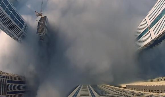 Salto base en Dubaí. Foto: Captura de pantalla