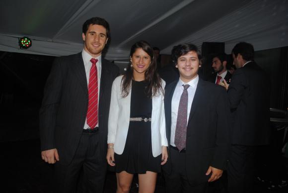 Santiago Bordaberry, Paula Pereira, Luis Delfino.