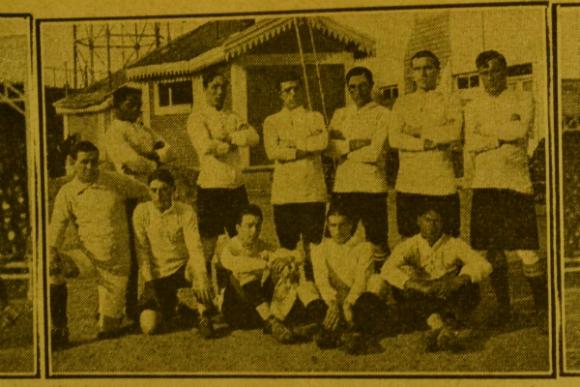 El equipo de Uruguay el día del debut ante Chile (Foto: Archivo del autor)