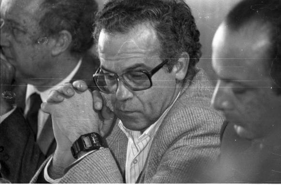 Fernández Huidobro en una instancia judicial con Gonzalo Fernández. Foto: Archivo El País