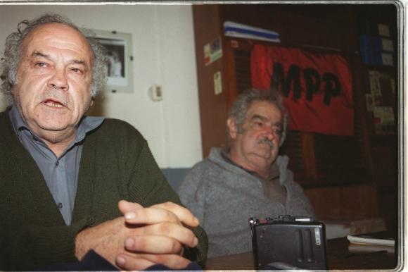 José Mujica y Fernández Huidobro en el Congreso del MPP. Foto: Archivo El País