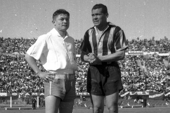 Obdulio Varela en su retiro de Peñarol. Foto: Archivo El País.