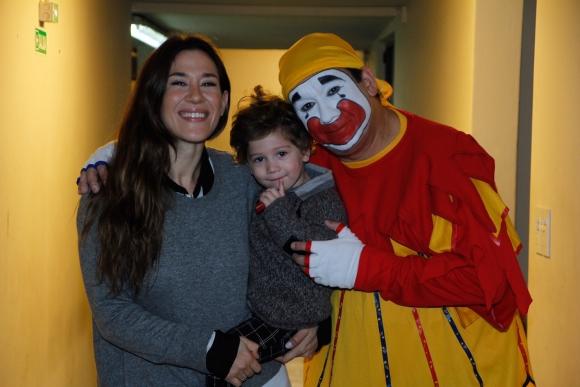 Con Jimena Barón y Morrison, el hijo del futbolista Daniel Osvaldo.