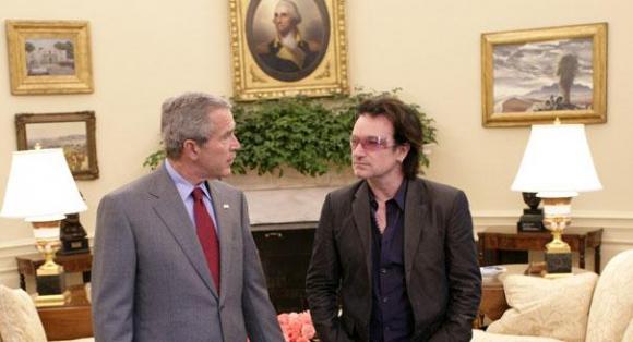 La cara de Bono es bastante ilustrativa