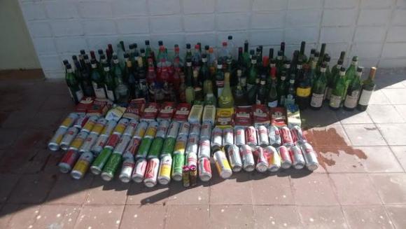 Incautación a hinchas de Boca en Uruguay. Foto: Ministerio del Interior