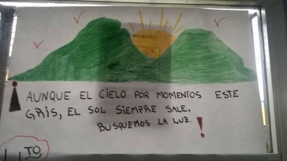 Mensajes de la Escuela de Oficios Don Bosco, Marconi. Foto: Facebook