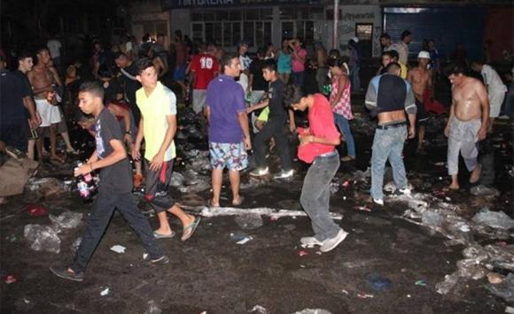 Incidentes en protestas por cortes de electricidad. Foto: Diario Panorama.