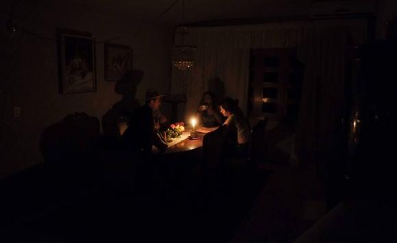 Maracaibo sin electricidad. Foto: AFP.