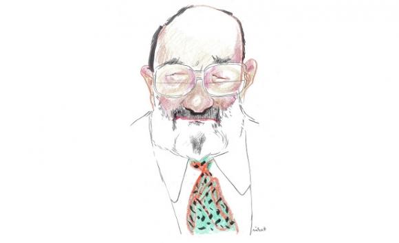 Umberto Eco. Dibujo Sábat