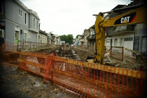 Las obras buscan terminar con inundaciones en varios barrios de la ciudad. Foto: G. Pérez