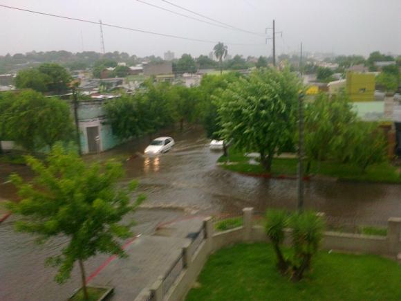 Lluvias intensas en Tacuarembó. Foto: Freddy Fernández  Carranza
