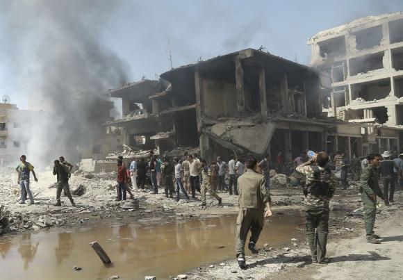 Así quedo la ciudad Siria Qamishli, luego del atentado. Foto: AFP