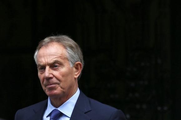 Tony Blair al salir de su oficina el martes. Foto: Reuters.