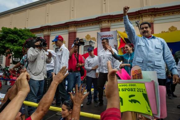 Maduro criticó la decisión de Almagri de invocar la Carta Democrática. Foto: EFE