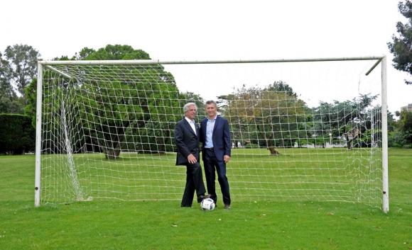 Tabaré Vázquez  y Mauricio Macri. foto: Presidencia
