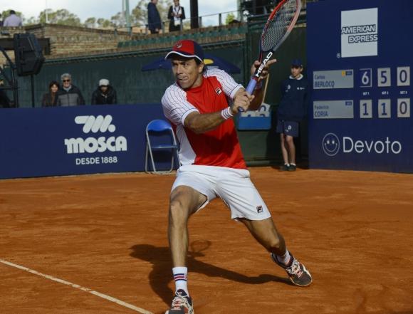 Berlocq ganó con aire. Foto Uruguay Open
