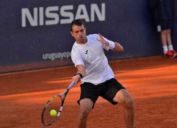 Iñigo Cervantes deió remontar su partido: Foto Uruguay Open