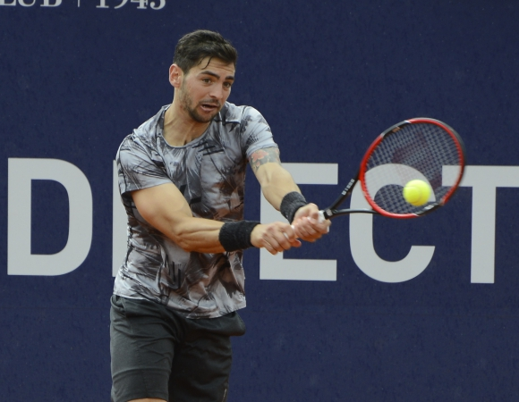 Andreozzi se retiró lesionado. Foto Uruguay Open