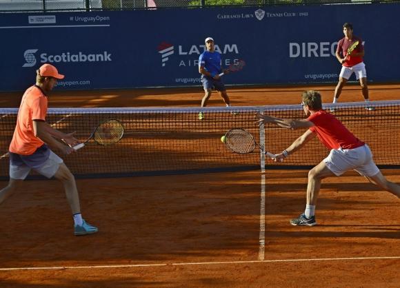 Behar y Jarry quedaron fuera en semis. Foto Uruguay Open