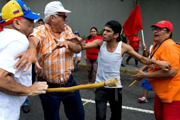 Protestas en Venezuela. Foto: AFP