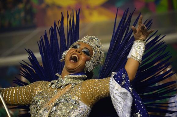 Portela en el Sambódromo de Rio De Janeiro. Foto: AFP