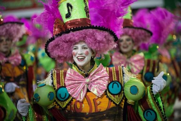 Emperatriz en el Sambódromo de Rio de Janeiro. Foto:AFP