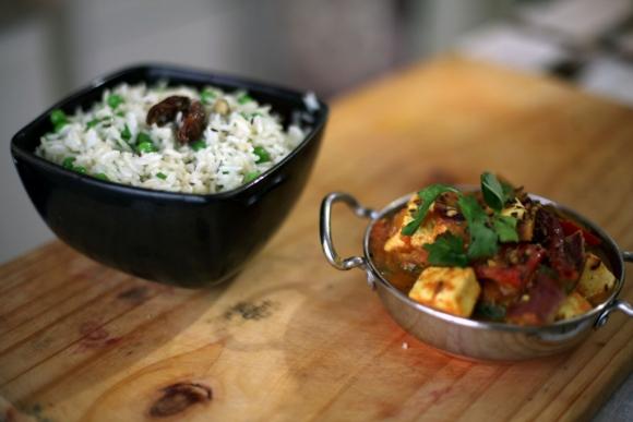 Curry de ricota y Pulao. Foto: Gabriel Rodríguez