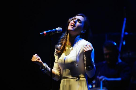 Recorrido: la argentina repasó nuevas y viejas canciones. Foto: F. Ponzetto