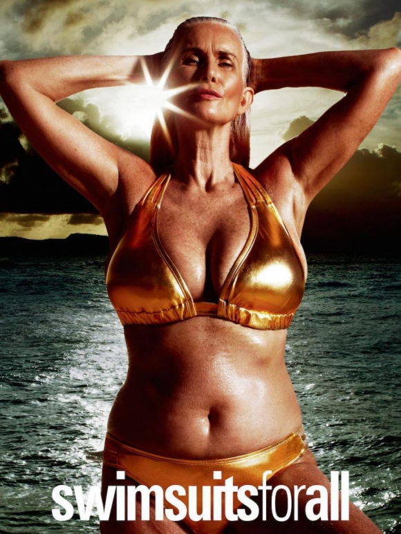 Nicola Griffin. A sus 56, la veterana modelo salió en la revista Sports Illustrated. (Foto: Google Images)