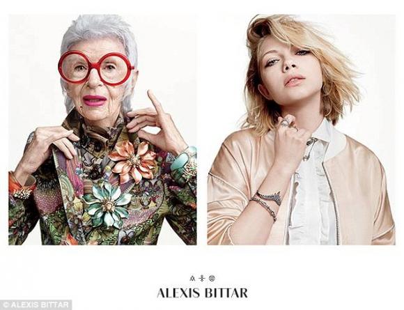Iris Apfeld. Ícono fashionista, Apfeld (93), ha sido imagen de las joyas Alexis Bittar. (Foto: Google Images)