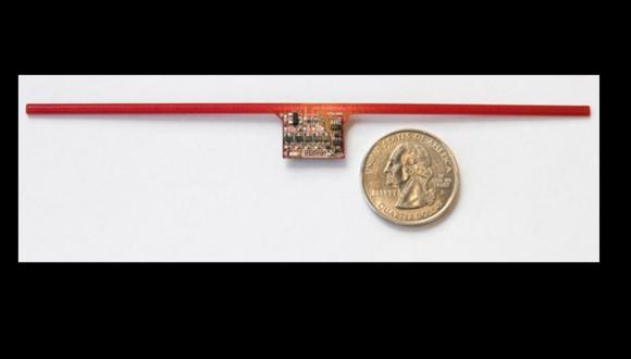 El WISP es un diminuto chip que no necesita conectarse a la corriente eléctrica para funcionar.. Foto: sensor.cs.washington.edu
