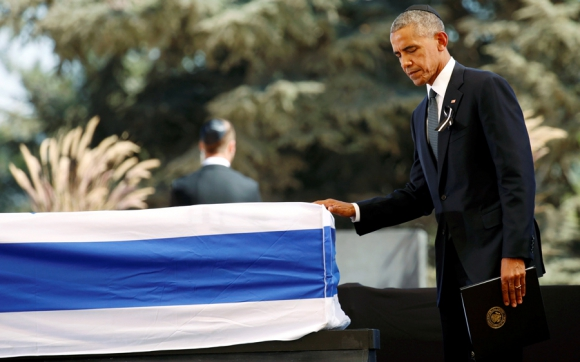 Barack Obama en el sepelio de Shimon Peres. Foto: Reuters