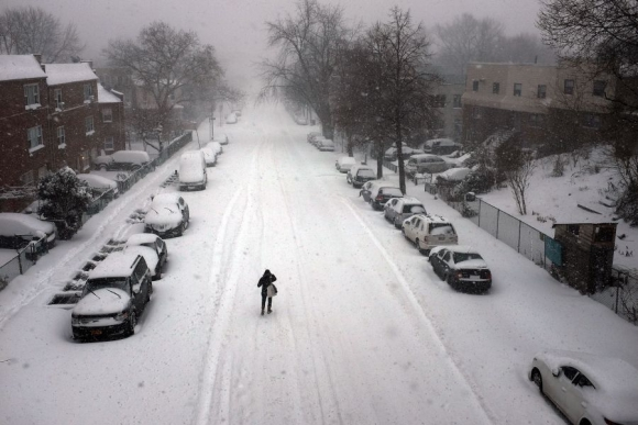 Inmensa tormenta de nieve golpeó a Nueva York. Foto: AFP.