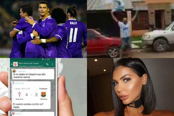 Locura con Cristiano, festejo por la Copa, en el grupo de Primera y más