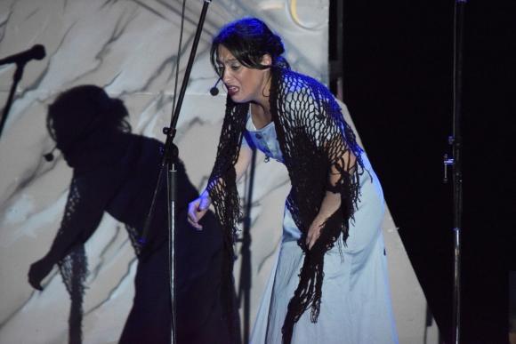 Vicky Rodriguez com Juana de Ibarbourou