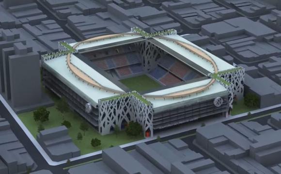 Así será el nuevo estadio de San Lorenzo en Boedo. Foto: Captura