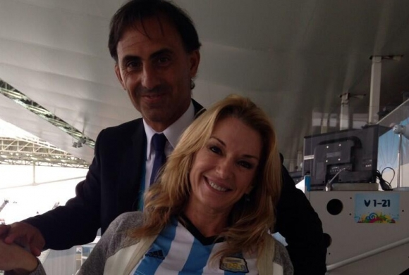 Yanina Latorre con su marido Diego