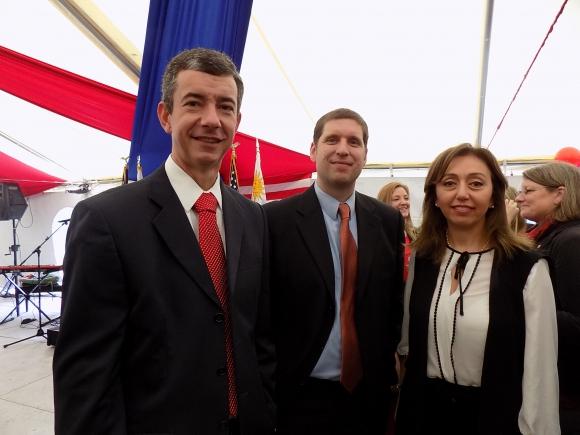 Aylton Netto, Andrew Winkelman, Magdalena Aonzo. Foto: Sofía Orellano/Ariel Colmegna