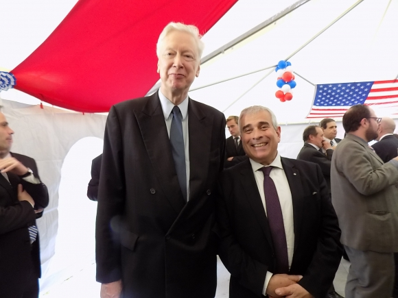 Embajador de Alemania Heinz Peters, Jorge Vega. Foto: Sofía Orellano/Ariel Colmegna.