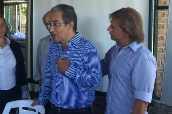 José Carlos Cardoso en su primera aparición pública desde el accidente. Foto: @GerardoAmarilla.